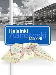 Finnische Karte / Karte von Finnland