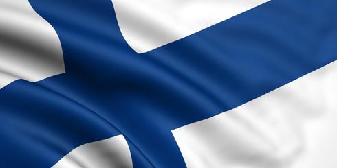 Finnische Flagge als Motiv