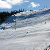 Skifahren am Fjäll Levi